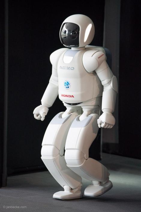 Asimo robot at the National Museum of Emerging Science and Innovation (Miraikan), Odaiba, Tokyo, Japan