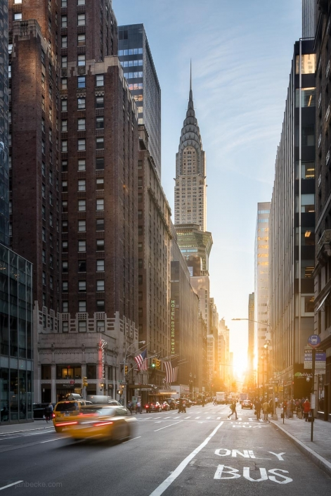 Fifth Avenue and Chrysler Building in New York City, USA
