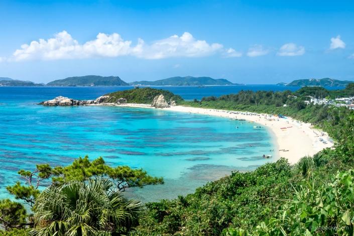 Aharen Beach on Tokashiki island, Okinawa, Japan