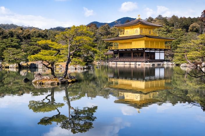 Kinkaku-ji also known as the Golden Pavilion in Kyoto, Japan