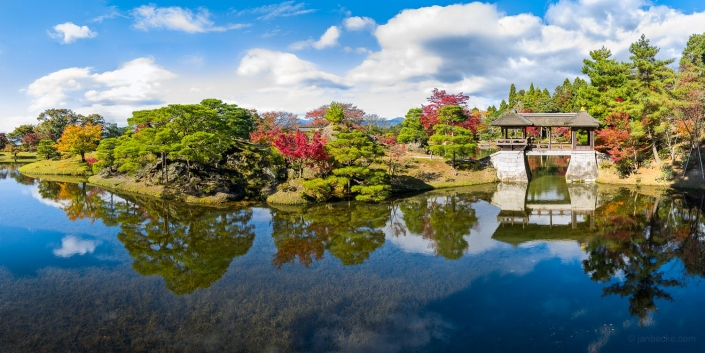 Shugakuin Imperial Villa in Kyoto, Japan