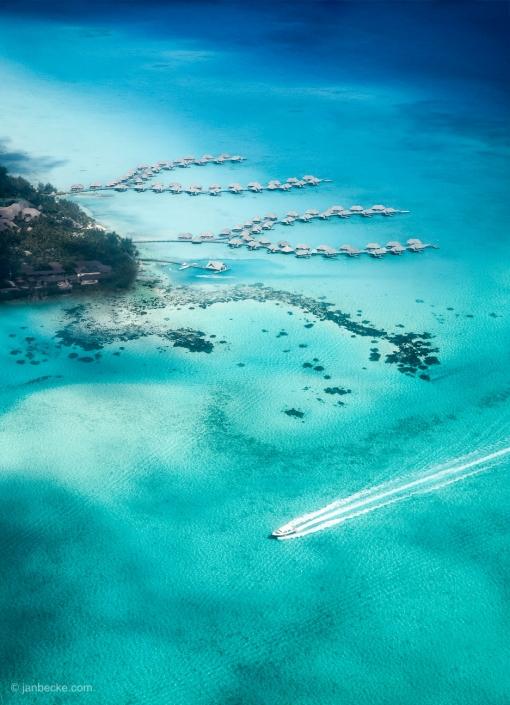 Aerial view of the Bora Bora Atoll