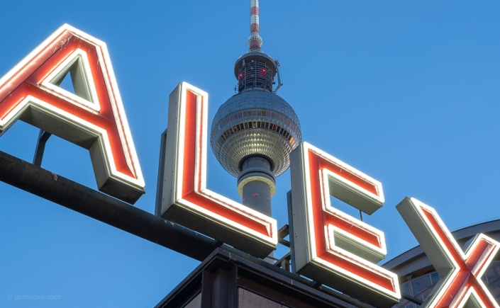 Fernsehturm Berlin at the Alexanderplatz in Berlin Mitte