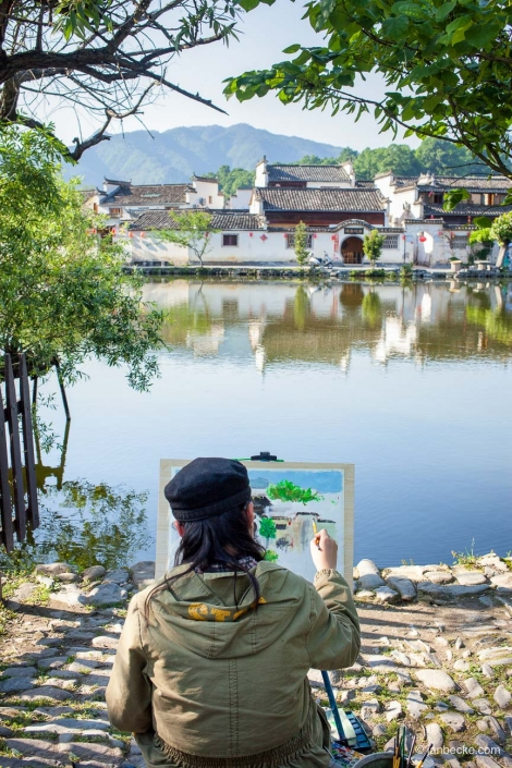 Hongcun Ancient Village also known as the painter village is located in the Anhui Province in China