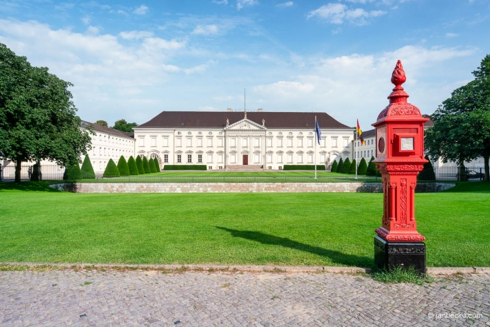 Bellevue Palace located in Berlin's Tiergarten district is the official residence of the President of Germany