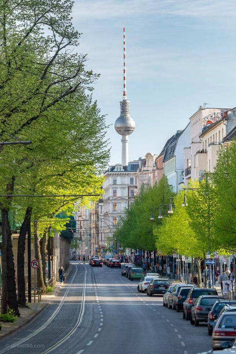Berlin Fernsehturm in spring