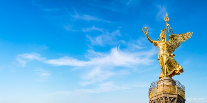 Berlin Victory Column with golden Victoria statue
