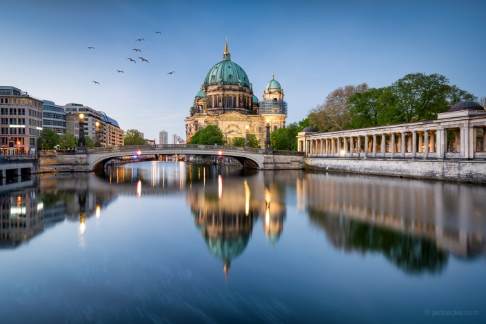 Berlin cathedral along the Spree river