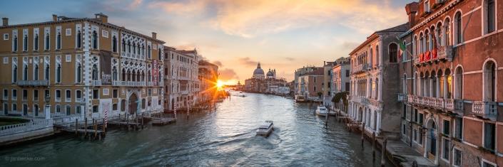 Canal Grande panorama at sunrise