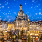 The Dresden Frauenkirche is a Lutheran church in Dresden, the capital of the German state of Saxony