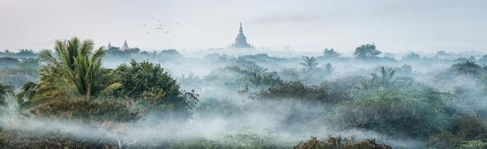 Early morning mist in Bagan, Myanmar