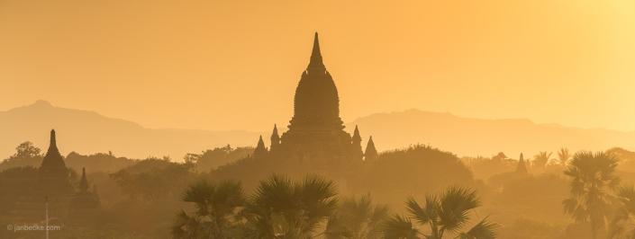 Ananda Temple panorama in Bagan at sunset, Myanmar