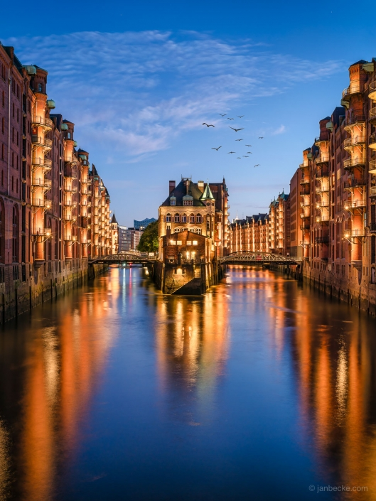 The Speicherstadt in Hamburg, Germany is the largest warehouse district in the world