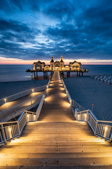 Sellin Pier on the island of Rügen at the Baltic sea coast