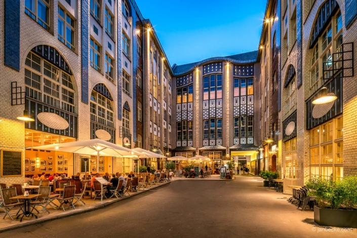 Historic buildings of the Hackeschen Höfe in Berlin Mitte