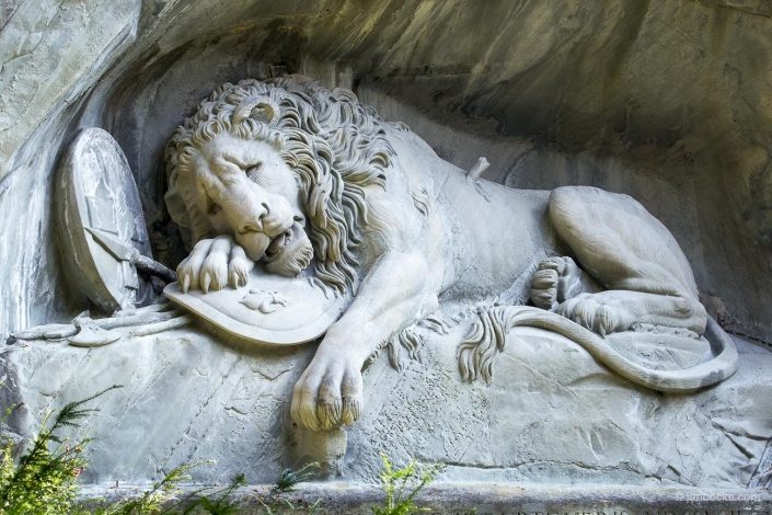 The Lion Monument is a rock relief in Lucerne, Switzerland