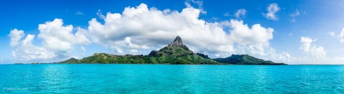 Mont Otemanu of the Bora Bora Atoll in French Polynesia