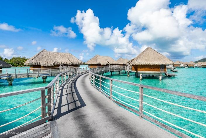 Overwater villas on Bora Bora, French Polynesia