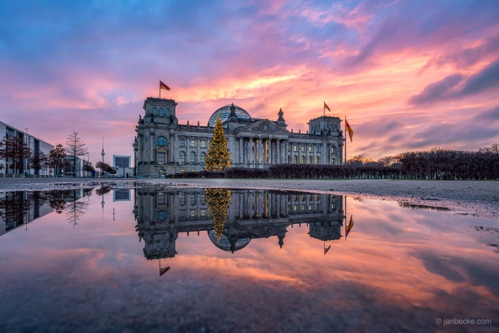 Berlin Reichstag building in winter