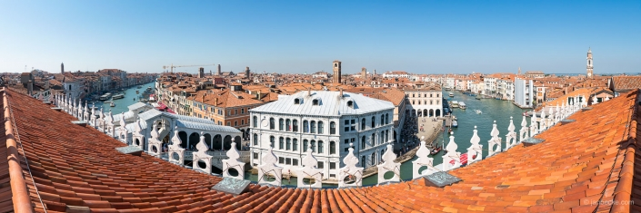 Rooftop panorama in Venice, Italy
