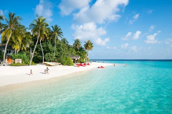 Summer vacation on a tropical island, South Ari Atoll, Maldives