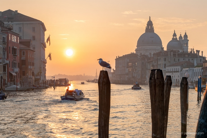 Sunrise above the Canal Grande in Venice, Italy