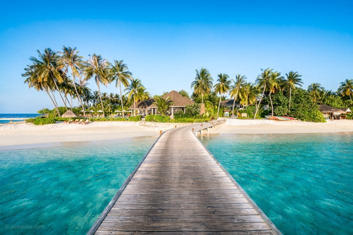 Tropical island at the South Ari Atoll, Maldives