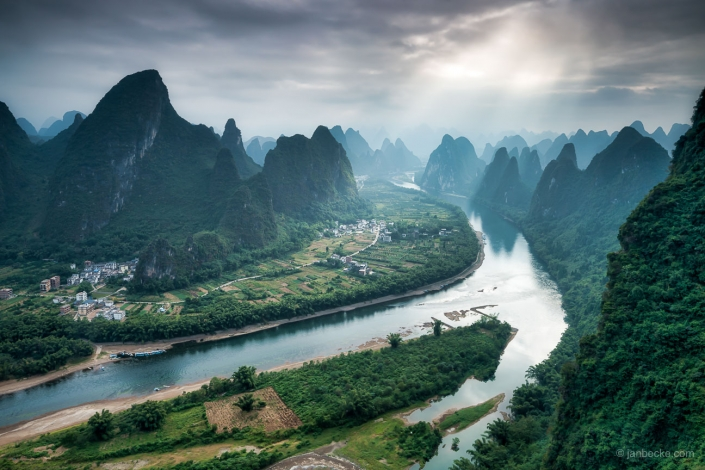 Xingping village along the Li river, Guangxi Province, China