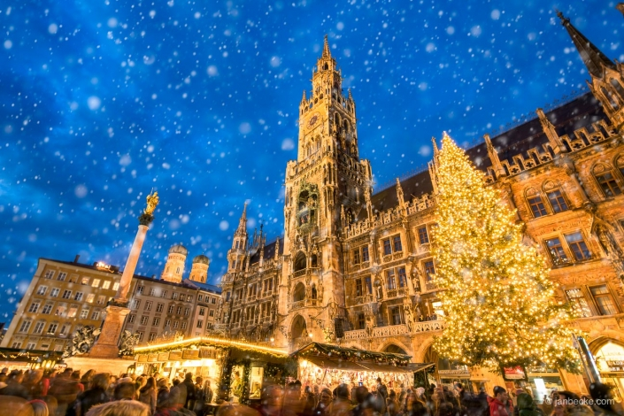 German Christmas at the Marienplatz in Munich, Germany