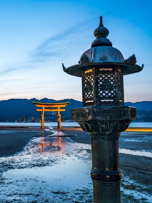 The Great Torii of the Itsukushima shrine on Miyajima island in Japan