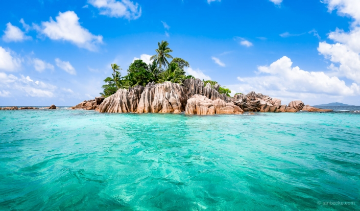 Ile St. Pierre island on the Seychelles is famous for snorkeling
