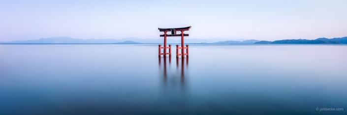 Shirahige Shrine at lake Biwa