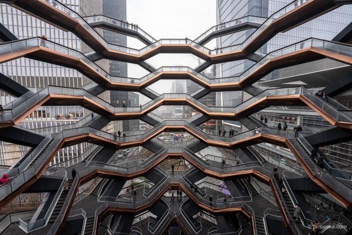 Vessel building at Hudson Yards in New York