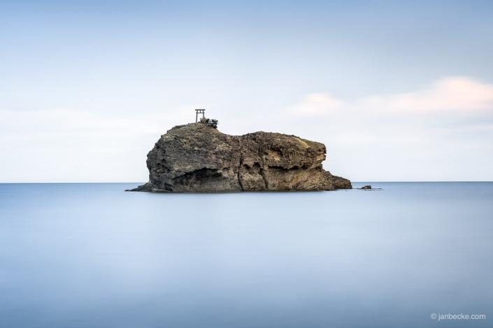Torii at the Japanese coast