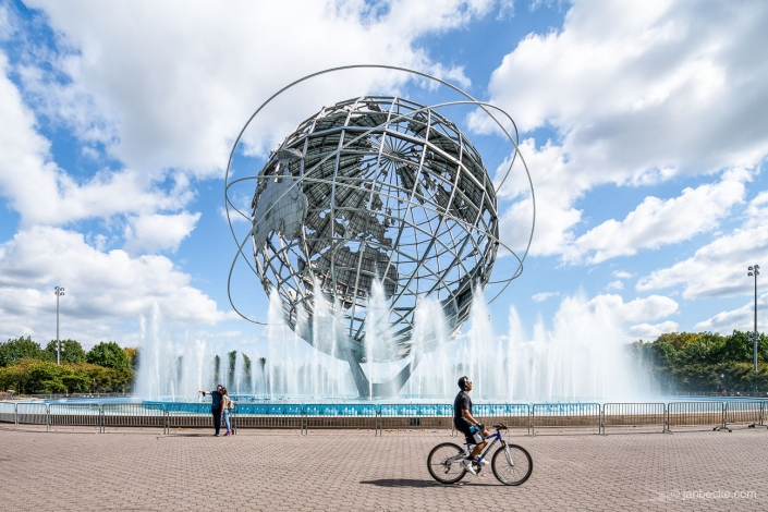 Unisphere monument at the Flushing Meadows Corona Park in Queens