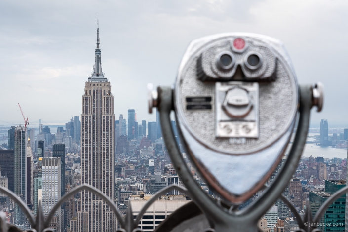 Binoculars on Top of The Rocks at the Rockefeller Center